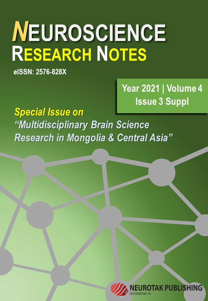 """View Vol. 4 No. 3Suppl (2021): Special issue on """"Multidisciplinary Brain Science Research in Mongolia and Central Asia"""""""